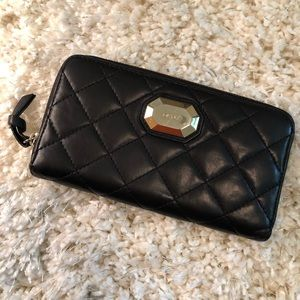 DKNY Black Quilted Wallet